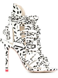 Sophia Webster Laced Gladiator Boots White