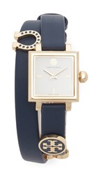 Tory Burch Saucy Watch Ivory Gold Navy