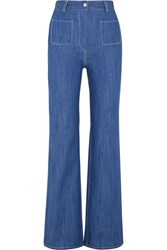 Paul And Joe Erania High Rise Straight Leg Jeans Mid Denim