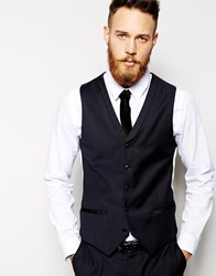 Noose And Monkey Waistcoat With Velvet Shawl Lapel Black