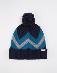 Jack Wills Bolberry Chevron Hat Navy