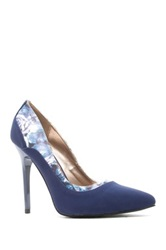 Qupid Rand High Heel Pump Blue