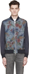 Colmar Navy Floral Hawaii Bomber Jacket