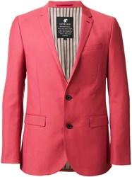 Loveless Two Button Blazer Red