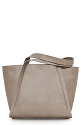Akris 'Medium Alex' Metallic Leather Shopper