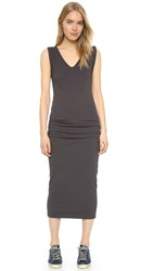 James Perse Twisted Sleeve Tube Dress Carbon