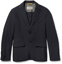 Canali Slim Fit Padded Shell Jacket Navy