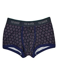 Ted Baker Horrel Floral Geometric Print Boxer Briefs Purple