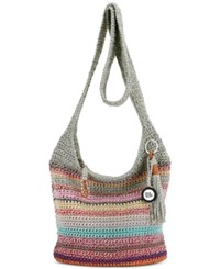 The Sak Casual Classics Crochet Crossbody Fest Stripe