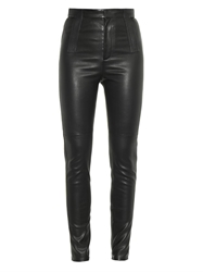 Givenchy Lamb Leather Skinny Trousers
