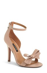 Women's Kay Unger 'Baroque' Ankle Strap Sandal Nude