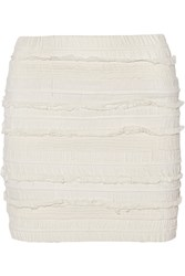 Iro Occeli Smocked Georgette Mini Skirt White