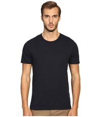 Vince Pima Modal Color Block Short Sleeve Crew Coastal Blue Men's Clothing