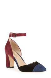 Bcbgmaxazria Women's 'Billee' Colorblock Pump Dark Navy Black Suede