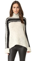 Pam And Gela Zip Back Sweater Cream