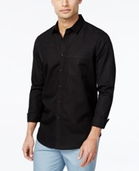Inc International Concepts Men's Kulun Long Sleeve Shirt Only At Macy's Black