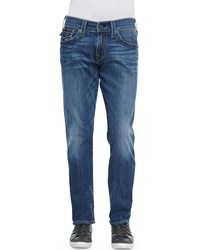 True Religion Ricky Lakeview Denim Straight Leg Jeans Blue