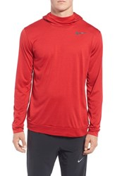 Nike Men's Dri Fit Training Hoodie Night Maroon Gym Red Black