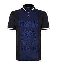 Moschino Panelled Polo Shirt Male Blue