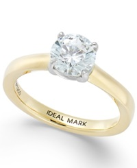 Macy's Idealmark Certified Diamond Solitaire Engagement Ring In 18K Gold 1 1 2 Ct. T.W.