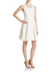 Jessica Simpson Back Bow Fit And Flare Dress Ivory