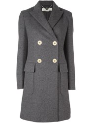 Stella Mccartney Classic Double Breasted Coat Grey