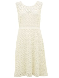 Nougat London Lace Embroidered Dress Cream