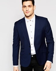 Antony Morato Suit Jacket With Stretch In Super Slim Fit Blue
