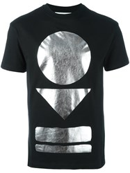 Mcq By Alexander Mcqueen Metallic Print T Shirt Black