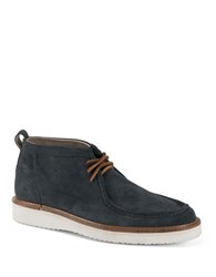 Andrew Marc New York Haven Suede Boots Navy