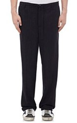 Golden Goose Chalk Striped Trousers Blue