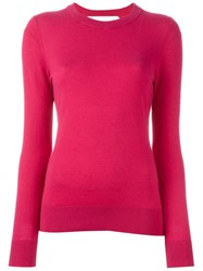 Michael Michael Kors Ribbed Knitted Blouse Pink And Purple