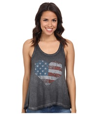 Rock And Roll Cowgirl Knit Tank Top 49 3361 Charcoal Women's Sleeveless Gray