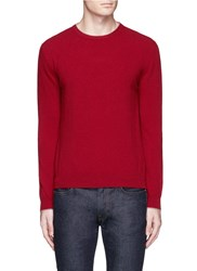 Altea Elbow Patch Virgin Wool Sweater Red