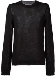 Maison Martin Margiela Lightweight Knitted Sweater Black