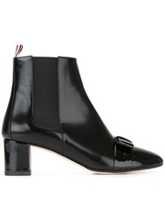 Thom Browne Lace Detailing Ankle Boots Black
