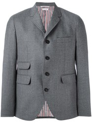 Thom Browne Three Button Blazer Grey