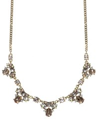 Givenchy Austrian Crystal Goldtone Chain Necklace