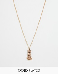 And Mary Necklace With Bunny Charm Goldplate