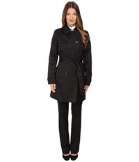 Kate Spade Waist Belt Raincoat 34 Black Loden Women's Coat