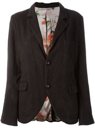 Geoffrey B. Small Two Button Casual Blazer Brown