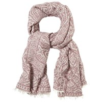 White Stuff Ottodine Textured Scarf Pink Cream
