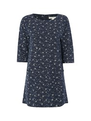 White Stuff Wilding Spot Jersey Tunic Blue