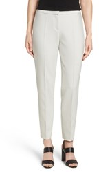 Boss Women's 'Tiluna' Stretch Woven Slim Ankle Trousers Moon Grey Solid