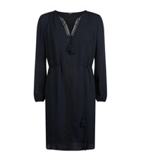 Elie Tahari Jackie Tassel Dress Female Dark Blue