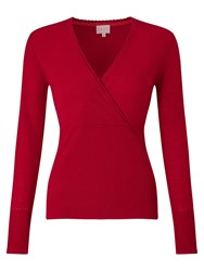 East Wrap Front Jumper Red
