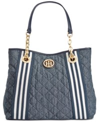 Tommy Hilfiger Th Quilted Denim Shopper
