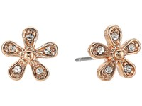 Lauren Ralph Lauren Small Flower Stud Earrings Crystal Rose Gold Earring