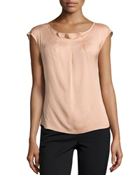 Escada Najja Silk Cap Sleeve Top Desert Rose