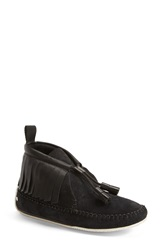 Rag And Bone 'Ghita' Suede Wedge Moccasin Black Suede